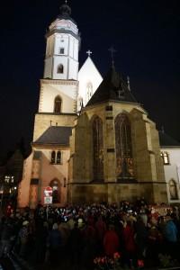 Bürgersingen vor der Thomaskirche