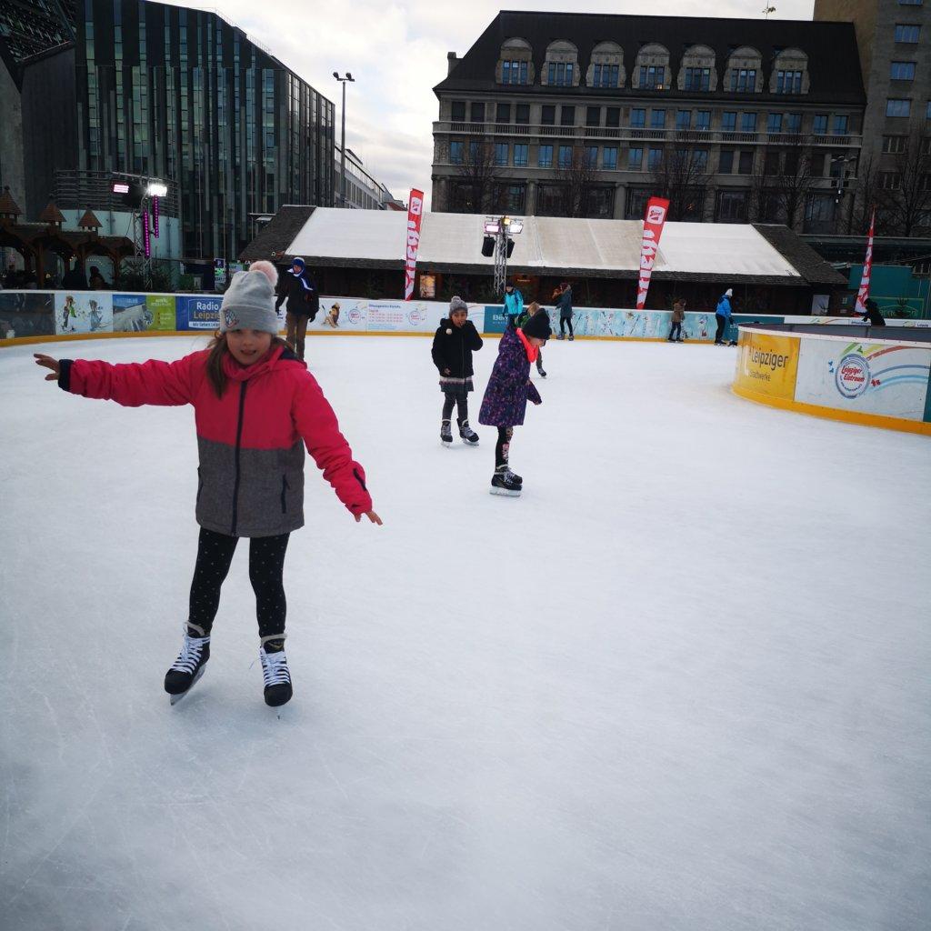 Eislaufen auf dem Augustusplatz